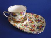 Vintage Royal Winton 'Evesham' Chintz Tennis Cup and Saucer c1950